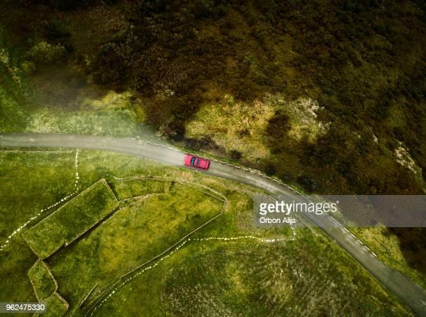 Vista aérea de carretera
