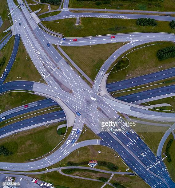 Aerial view of roads.