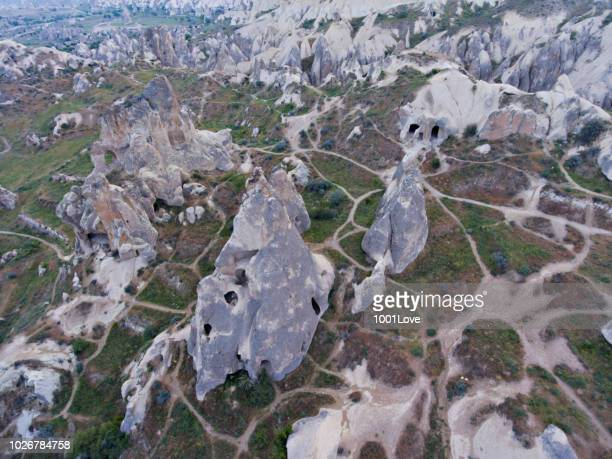 Aerial view of rock formation, Cappadocia