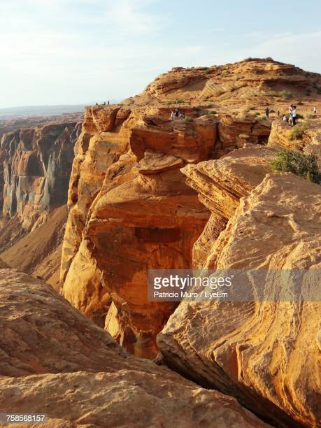aerial view of rock formations - muro stock photos and pictures