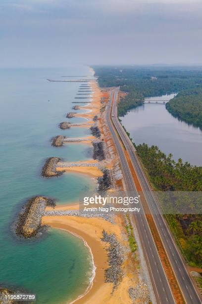 aerial view of rocky bunds - karnataka stock pictures, royalty-free photos & images