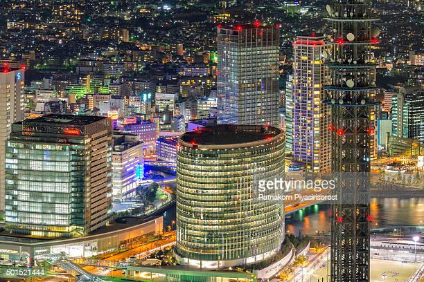 aerial view of roppongi mori garden surroundings, tokyo - roppongi hills stock pictures, royalty-free photos & images