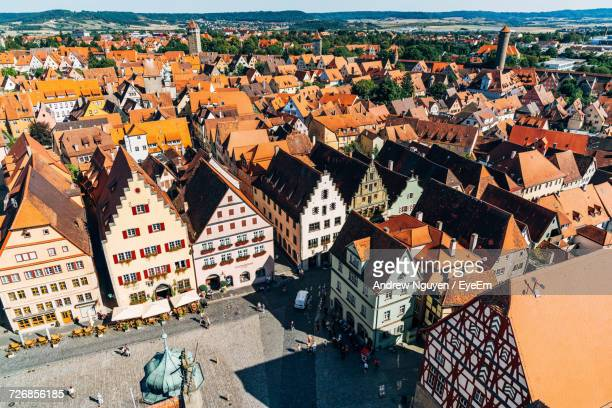 Aerial View Of Rothenburg Town Against Sky