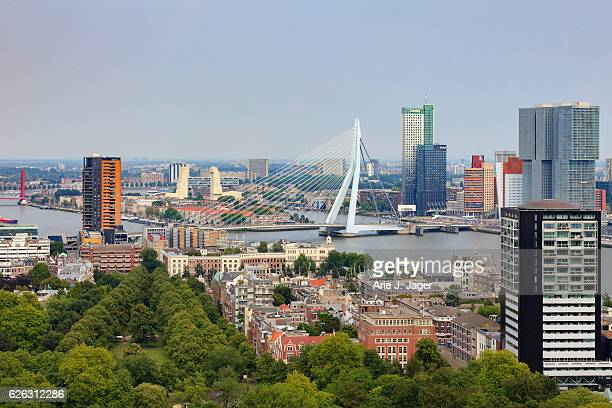 aerial view of Rotterdam seen from the Euromast tower