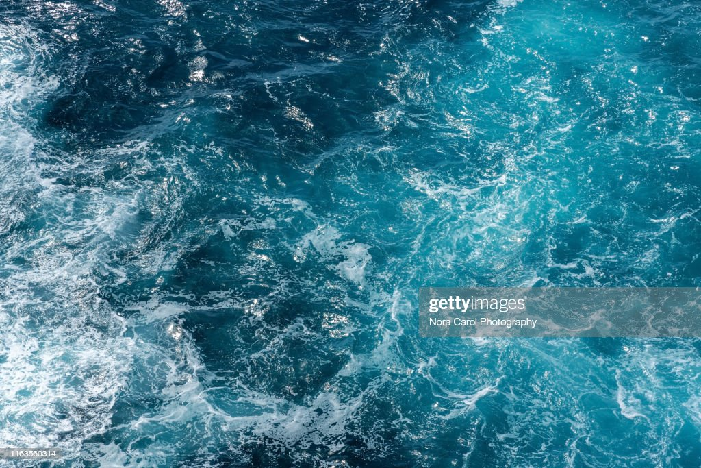 Aerial View of Rough Sea Waves : Stock Photo