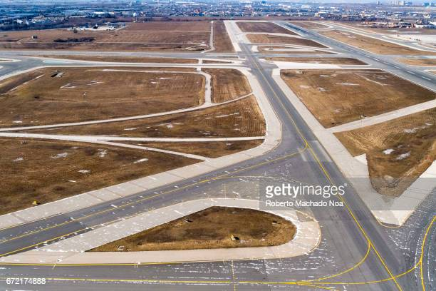 Aerial view of runway at Toronto Pearson International Airport Passenger point of view as a plane takes off According to the International Civil...
