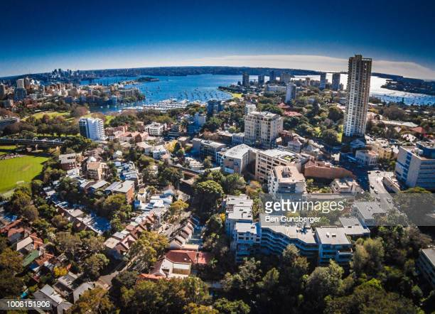 Aerial view of Rushcutters Bay and Sydney Harbour