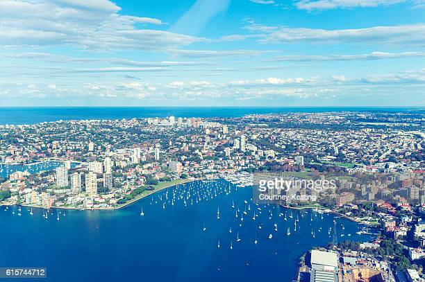 Aerial view of Rushcutters Bay Sydney.