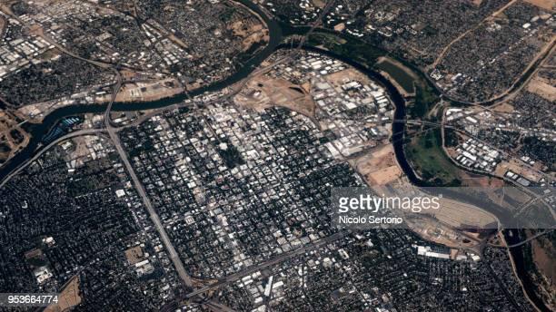 Aerial view of Sacramento