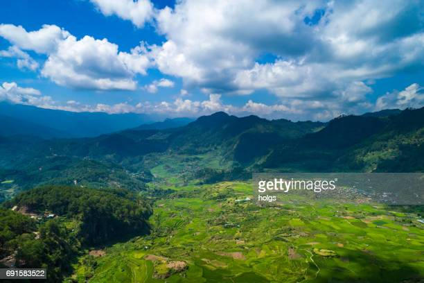 Aerial View of Sagada, Northern Philippines