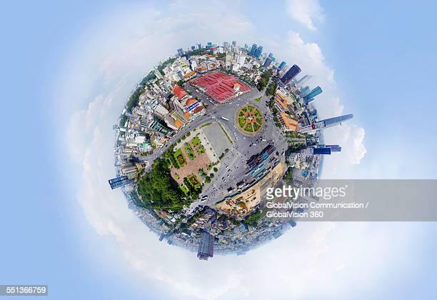 360° Aerial View of Saigon