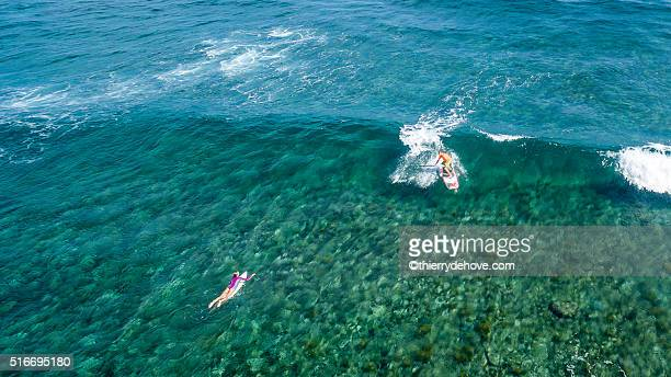 Aerial view of Saint Martin Beach