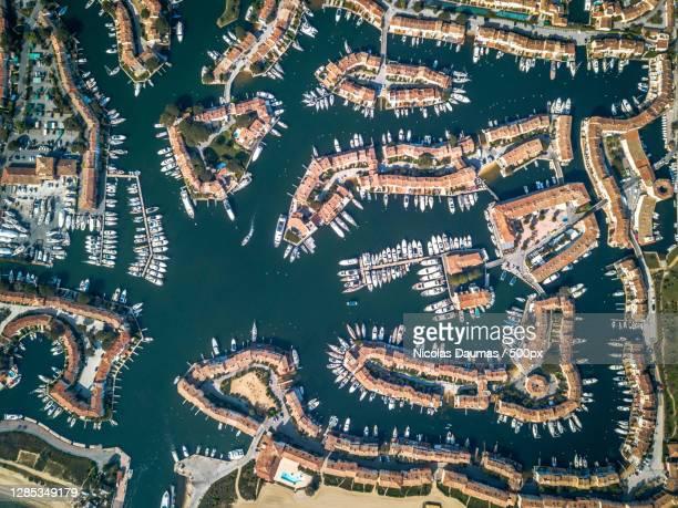 aerial view of saint tropez,saint tropez,france - var stock pictures, royalty-free photos & images