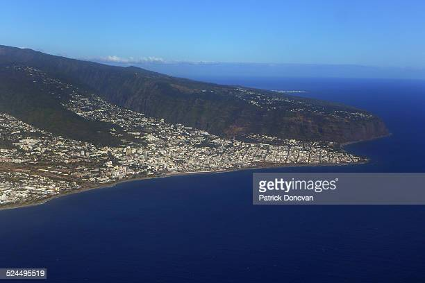 Aerial view of Saint-Denis, Reunion Island, France