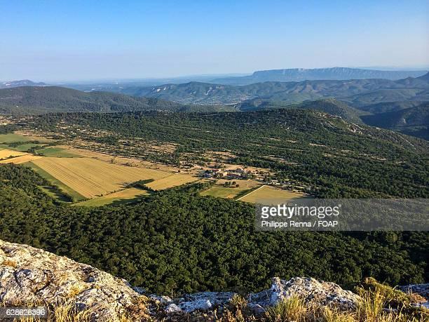 aerial view of sainte beaume - saint maximin la sainte baume stock pictures, royalty-free photos & images