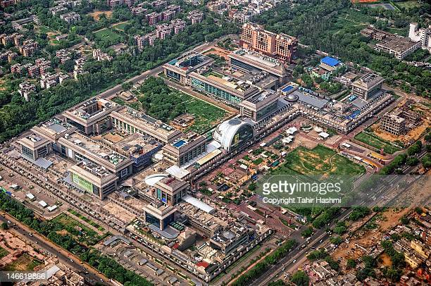 aerial view of saket city - ayodhya stock photos and pictures