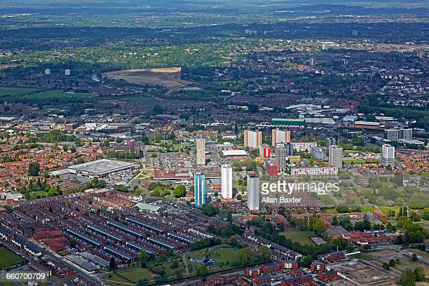 Aerial view of Salford in Manchester