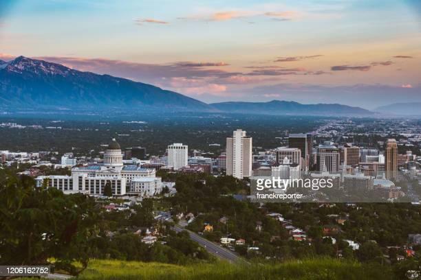 塩湖市の空中写真 - ソルトレイクシティ ストックフォトと画像