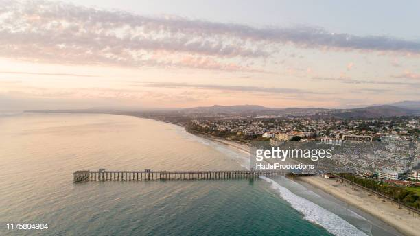 aerial view of san clemente california - san clemente california stock pictures, royalty-free photos & images