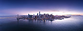Aerial view of San Francisco City from the Bay