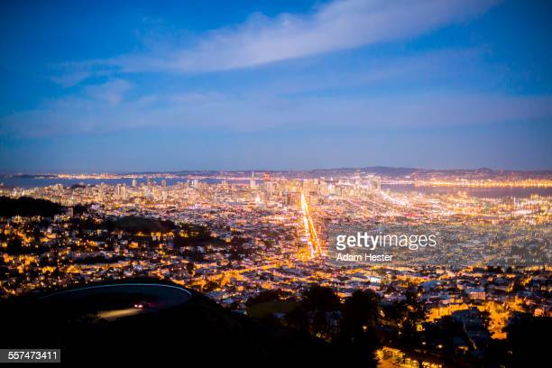 Aerial view of San Francisco cityscape, California, United States