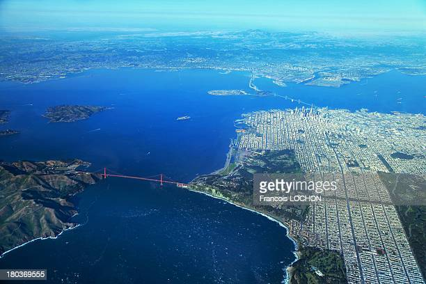 Aerial view of San Francisco on May 22 2013 in San Fancisco California