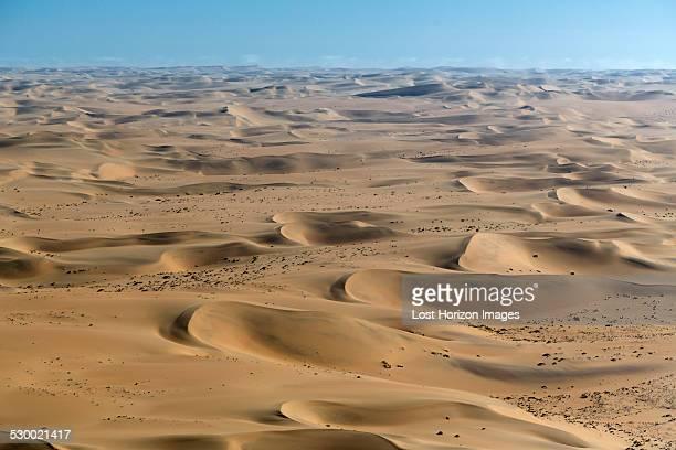 Aerial view of sand dunes, Namib Desert, Namibia