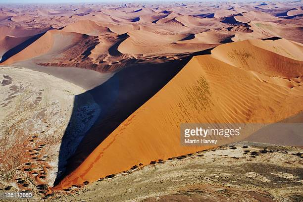 Aerial view of sand dunes of the Namib desert. Namibia.