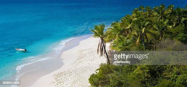 vista aérea de cayo sandy, islas vírgenes británicas - caribe fotografías e imágenes de stock