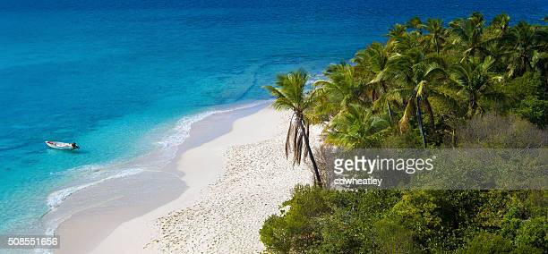 aerial view of Sandy Cay, British Virgin Islands