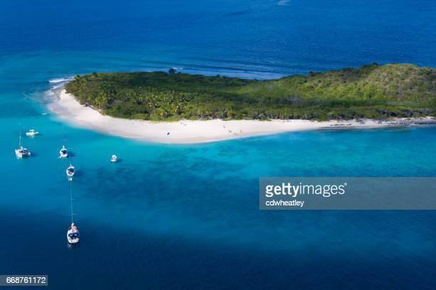 Luftaufnahme von Sandy Cay, Britische Jungferninseln