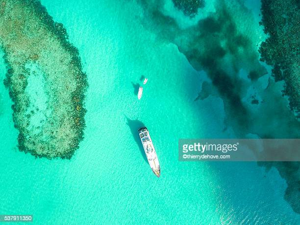 Aerial view of sandy toes island, Bahamas Beaches