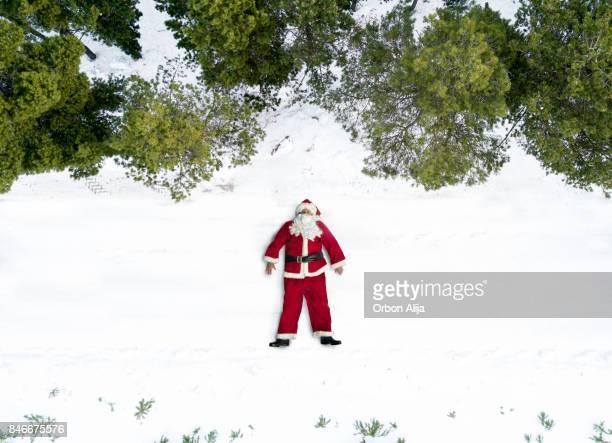 Aerial view of Santa Claus