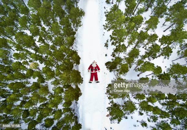 aerial view of santa claus - mexican christmas stock photos and pictures