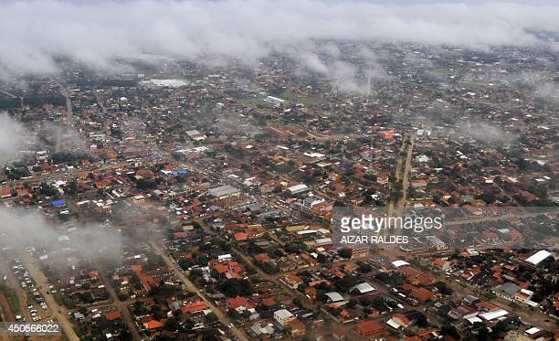 Aerial view of Santa Cruz eastern Bolivia on June 13 on the eve of the G77China summit that will be held here AFP PHOTO/Aizar Raldes
