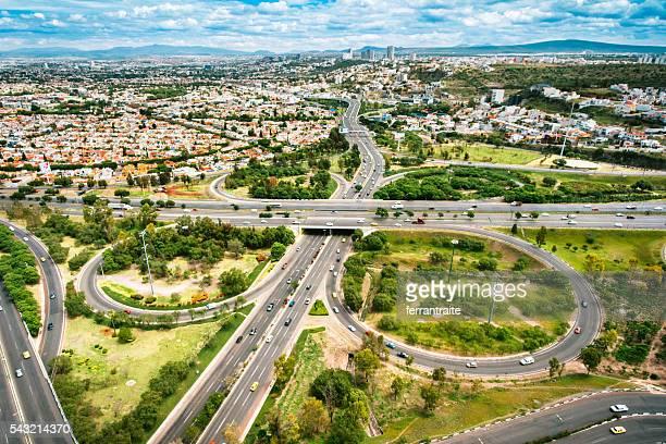 Aerial View of Santiago de Queretaro Mexico