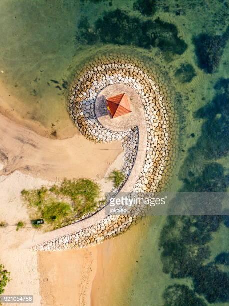 Aerial View of Sanur Beach Bali