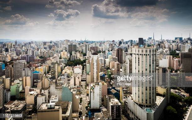 aerial view of sao paulo, brazil - são paulo city stock pictures, royalty-free photos & images