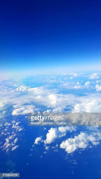 Aerial View Of Sea And Clouds
