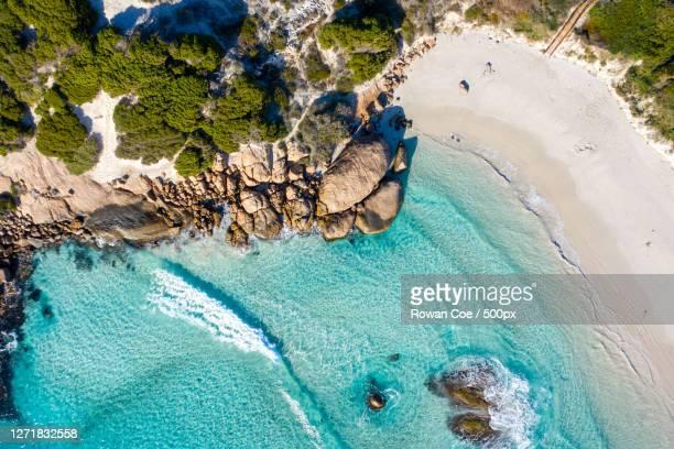 aerial view of sea, esperance, australia - オーストラレーシア ストックフォトと画像