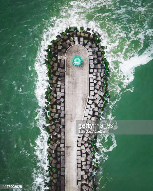 aerial view of sea - the hague stock pictures, royalty-free photos & images