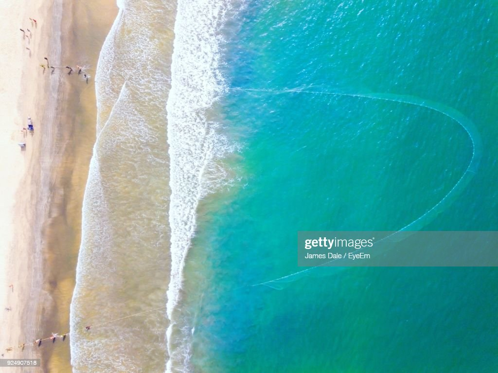 Aerial View Of Sea : Stock Photo