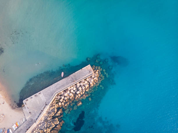 Aerial view of sea,Italy
