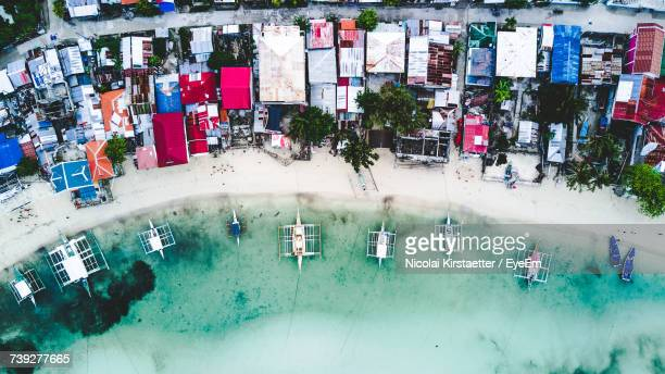 aerial view of seashore - cebu stock photos and pictures