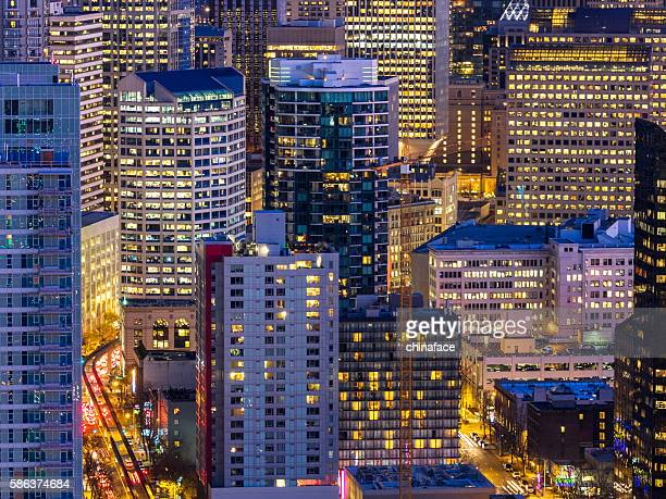 aerial view of Seattle downtown