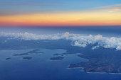 aerial view sekotong bay lombok indonesia