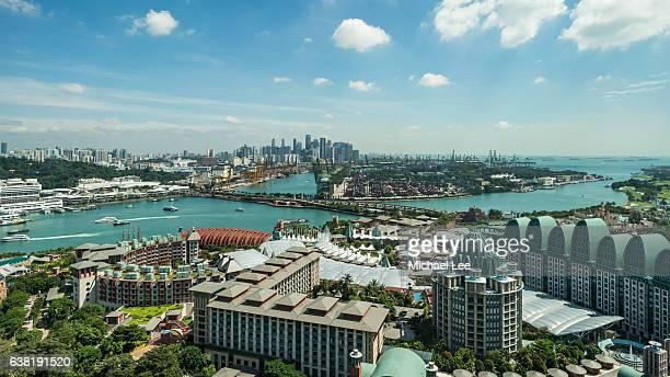 Aerial View of Sentosa - Singapore