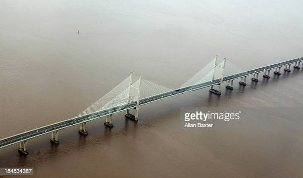 Aerial view of Severn bridge
