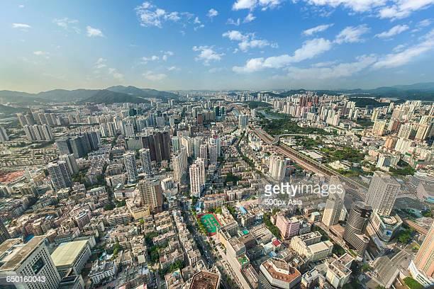 aerial view of shanezhen - 深圳市 ストックフォトと画像