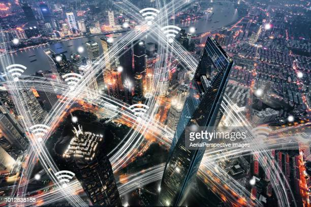 Aerial View of Shanghai City Network Technology